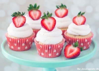 Strawberry Shortcake Cupcakes   The JavaCupcake Blog https://javacupcake.com