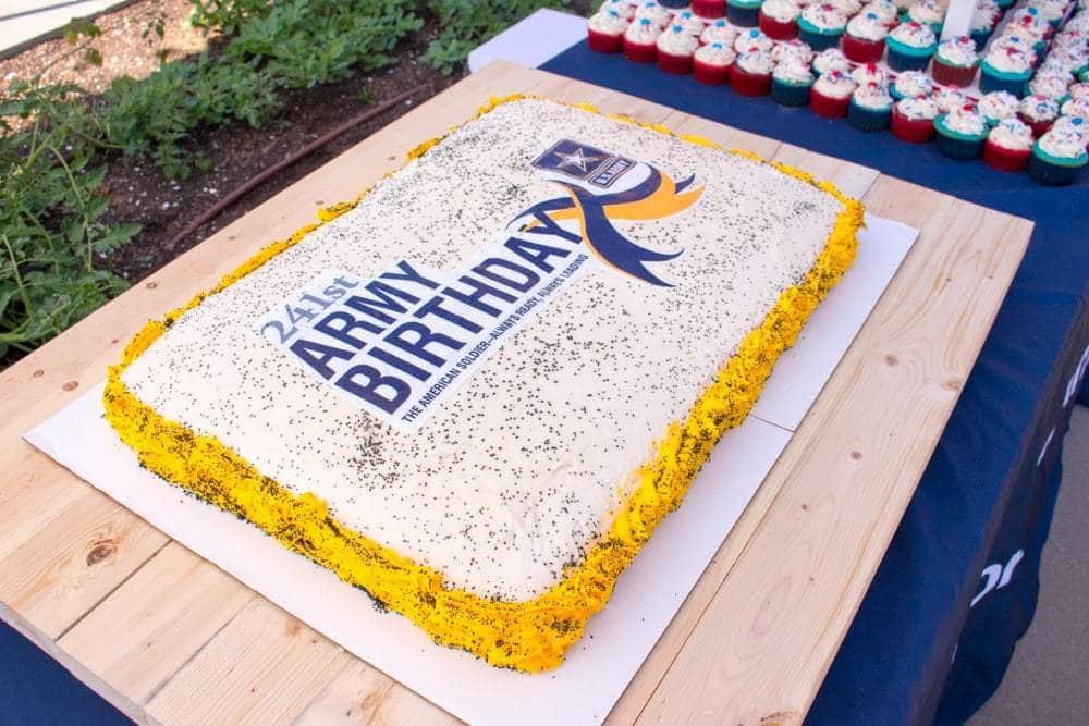 US Army Birthday Cake - JavaCupcake