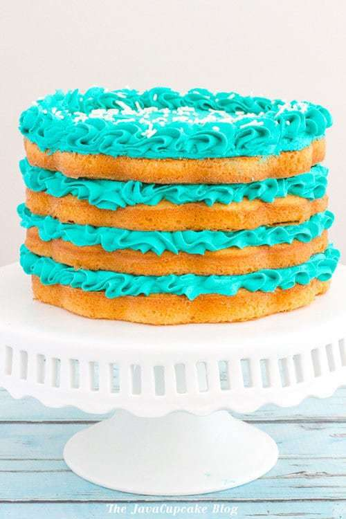 Blueberries and Cream Layer Cake | The JavaCupcake Blog https://javacupcake.com