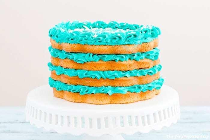 Blueberries & Cream Layer Cake