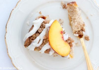 Fresh Peach Coffee Cake | The JavaCupcake Blog https://javacupcake.com