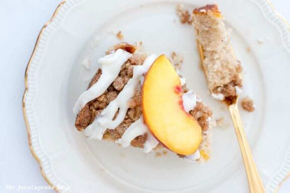 Fresh Peach Coffee Cake | The JavaCupcake Blog http://javacupcake.com