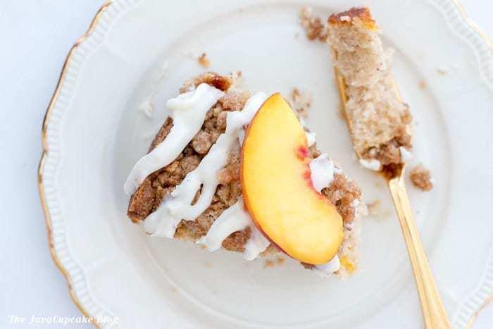 Fresh Peach Coffee Cake | The JavaCupcake Blog https://javacupcake.com