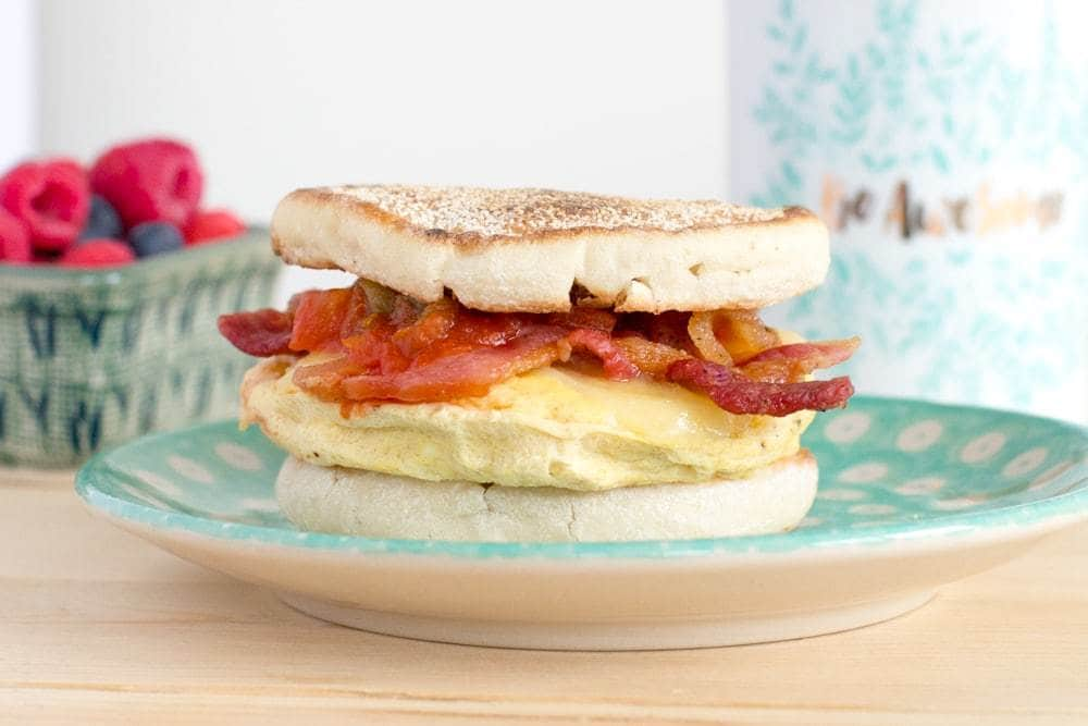 5-Minute Breakfast Sandwiches featuring OXO products | The JavaCucpake Blog http://javacupcake.com