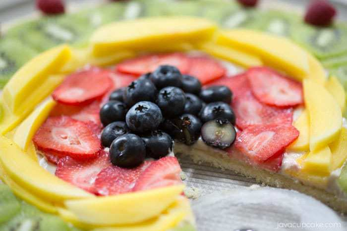 Fresh Fruit Dessert Pizza | JavaCupcake.com