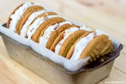 Peanut Butter Ice Cream Sandwiches | The JavaCupcake Blog https://javacupcake.com #SoHoppinGood #BlueBunny #BombPop