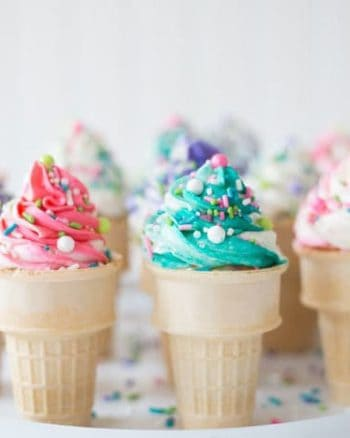 Ice Cream Ice Cream Cone Cupcakes #SummerDessertWeek | The JavaCupcake Blog https://javacupcake.comCone Cupcakes #SummerDessertWeek | The JavaCupcake Blog https://javacupcake.com