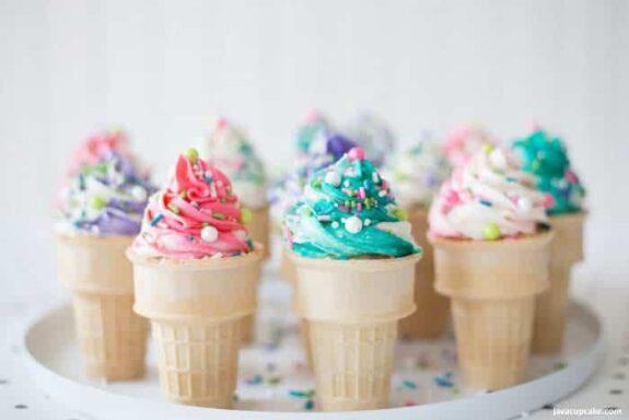 Ice Cream Ice Cream Cone Cupcakes #SummerDessertWeek | The JavaCupcake Blog http://javacupcake.comCone Cupcakes #SummerDessertWeek | The JavaCupcake Blog http://javacupcake.com