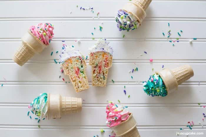 Ice Cream Cone Cupcakes #SummerDessertWeek | The JavaCupcake Blog https://javacupcake.com
