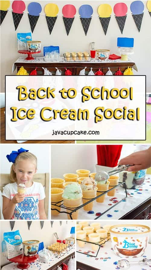 Back to School Ice Cream Social | The JavaCupcake Blog https://javacupcake.com #sponsored #BlueBunny #Walmart #SoHoppinGood