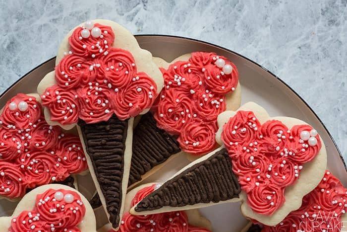 Ice Cream Cone Sugar Cookies | The JavaCupcake Blog https://javacupcake.com