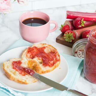 Small Batch Rhubarb Strawberry Jam