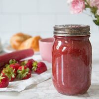 Small Batch Rhubarb Strawberry Jam