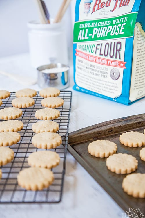 Shortbread Cookies | The JavaCupcake Blog https://javacupcake.com #sponsored #BobsRedMill #Bakesgiving