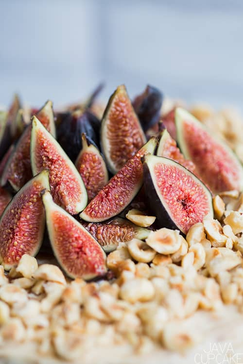 sliced figs and hazelnuts