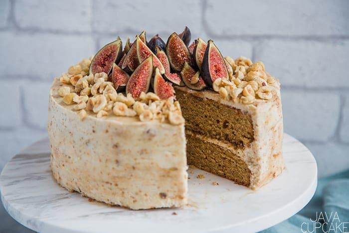 Hazelnut Fig Cake | The JavaCupcake Blog https://javacupcake.com