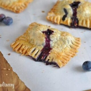 Blueberry Coconut Mini Hand Pies