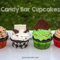 Candy Bar Cupcakes – 4 Ways!