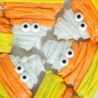 Candy Corn Mummy Sugar Cookies