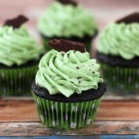 Chocolate Chip Mint Cupcakes