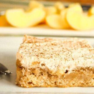 Chunky Apple Sugar Cookie Sheet Cake Bars