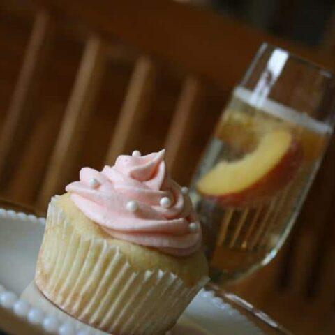 Peach Bellini Cupcakes