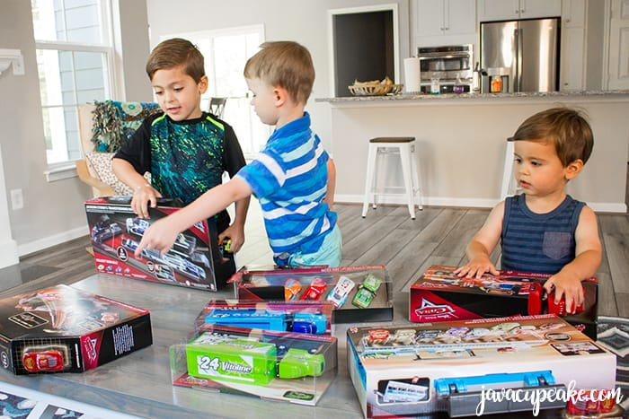 Reward your kids who do their chores by letting them pick out their favorite Disney-Pixar Cars toys at Walmart and a Cars 3 Play Date! | The JavaCupcake Blog https://javacupcake.com #Cars3AtWalmart #ad @Walmart @Mattel