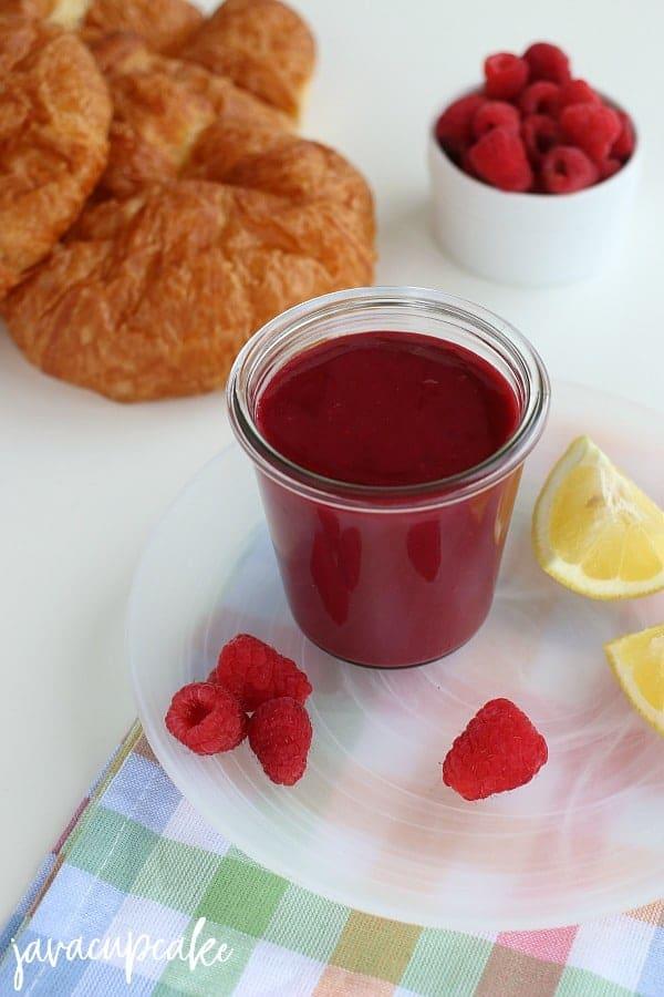 Raspberry Curd Recipe in glass jar