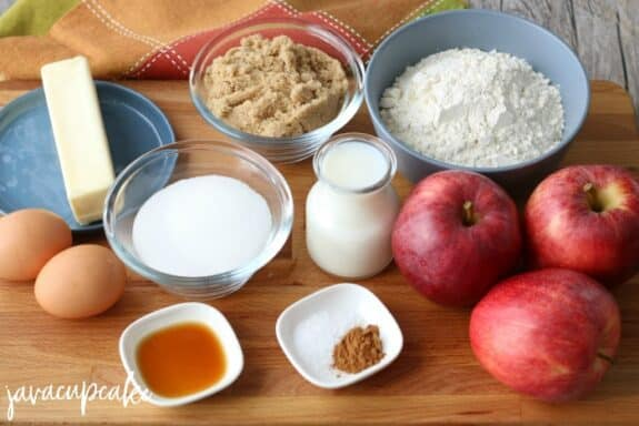 Ingredients for Apple Cinnamon Cupcakes