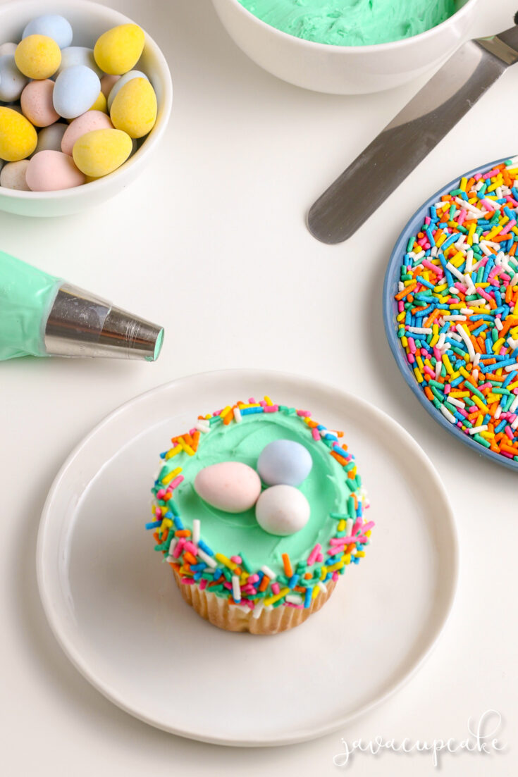 Easter Cupcakes - Nests